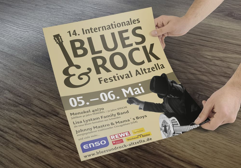 Plakatgestaltung 14. Internationales Blues & Rock Festival Altzella